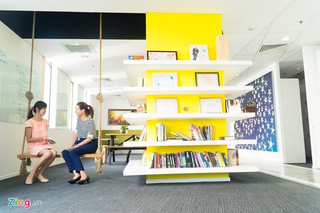 Một khu vực thư giản trong văn phòng chotot