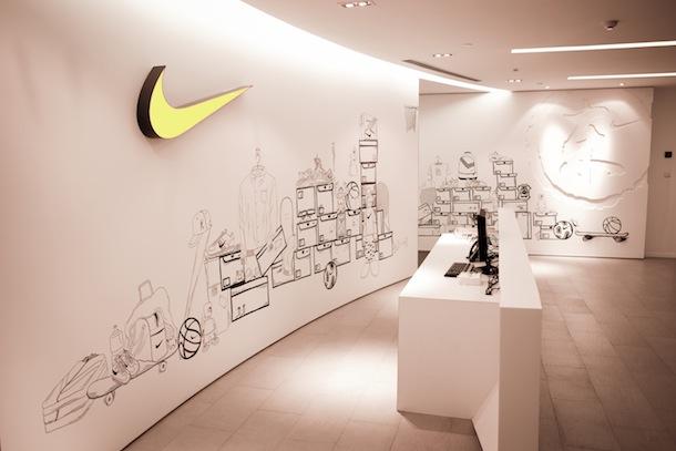 Tường văn phòng công ty Nike