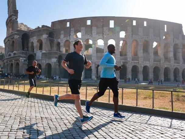 Zuckerberg thường xuyên tập thể dục 3 lần một tuần