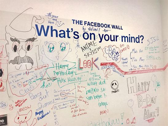 Bức tường vui nhộn tại trụ sở Facebook