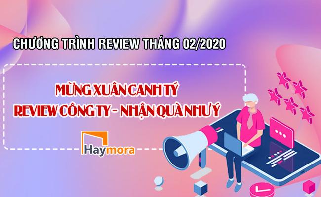 Cập nhật chương trình Review công ty tháng 02-2020